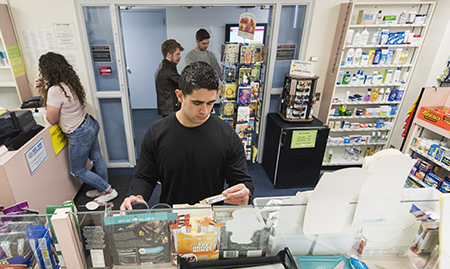 Students Browsing in Pharmacy